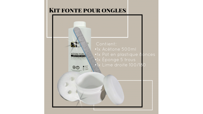 Kit fonte pour ongles